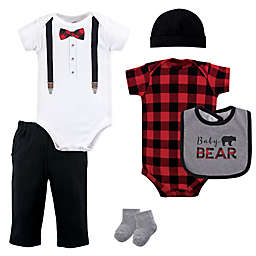 Little Treasures 6-Piece Baby Bear Layette Set