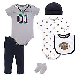 Little Treasures Size 0-3M 6-Piece Football Jersey Layette Set