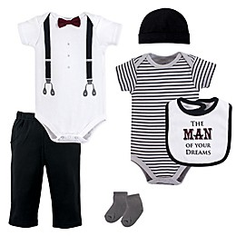 Little Treasures 6-Piece Man Of Your Dreams Layette Set