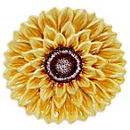 Certified International Sunset Sunflower 3D Dessert Plates (Set of 4)