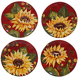 Certified International Sunset Sunflower Appetizer Plates (Set of 4)
