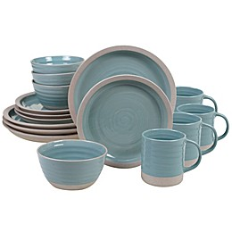 Certified International Artisan Teal 16-Piece Dinnerware Set