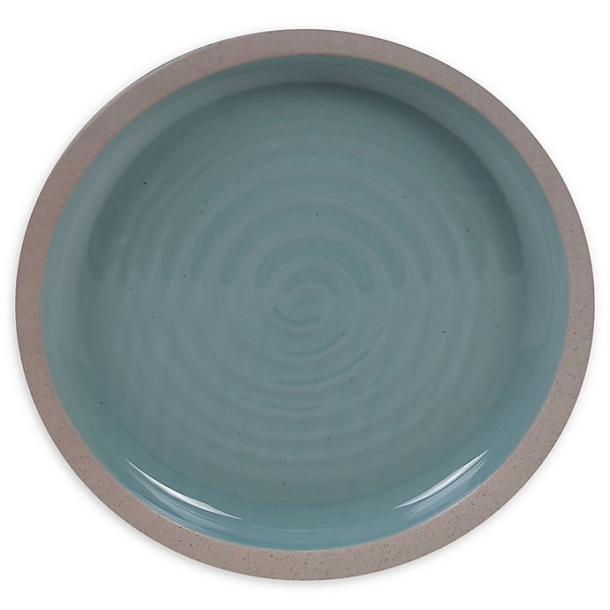 Alternate image 1 for Certified International Artisan Teal Dinner Plates (Set of 4)