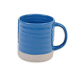 Certified International Artisan Blue Coffee Mugs (Set of 4)
