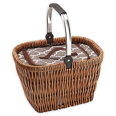 Over & Back Ashlynn Movable Handle Cooler Basket in Brown