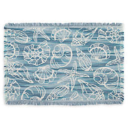Arlee Home Fashions® Seaside Shells Placemat in Blue