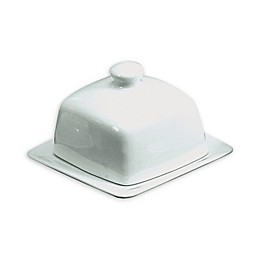 BIA Square Covered Butter Dish in White
