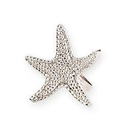 Saro Lifestyle Starfish Napkin Rings in Silver (Set of 4)