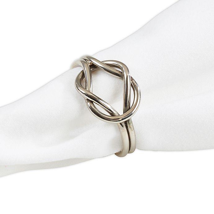 Alternate image 1 for Saro Lifestyle Knot Napkin Rings (Set of 4)