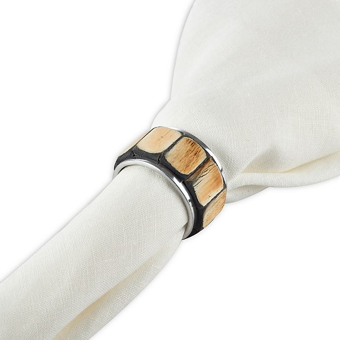 Alternate image 1 for Saro Lifestyle Horn Napkin Rings (Set of 4)