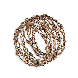 Saro Lifestyle Metal Design Napkin Rings (Set of 4)