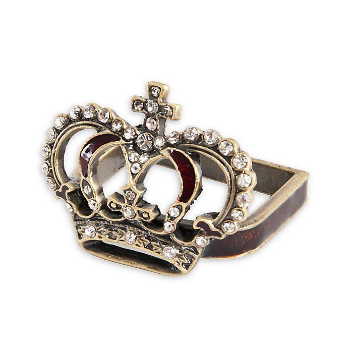 Alternate image 1 for Saro Lifestyle Crown Napkin Rings in Bronze (Set of 4)