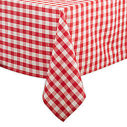 Saro Lifestyle Gingham 72-inch Square Tablecloth