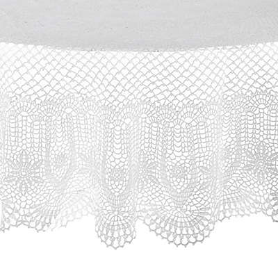Saro Lifestyle Vinyl 72-Inch Round Tablecloth