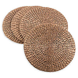Saro Lifestyle Kailua Hyacinth Round Placemats (Set of 4)