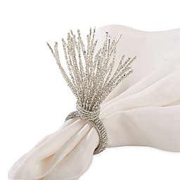 Saro Lifestyle Beaded Napkin Rings (Set of 4)