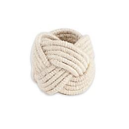 Saro Lifestyle Braided Jute Napkin Rings (Set of 4)