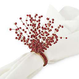 Saro Lifestyle Beaded Napkin Rings