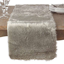 Saro Lifestyle Faux Fur 72-Inch Table Runner