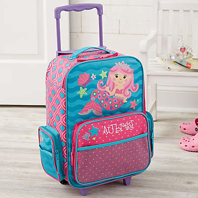 Mermaid Embroidered Rolling Luggage