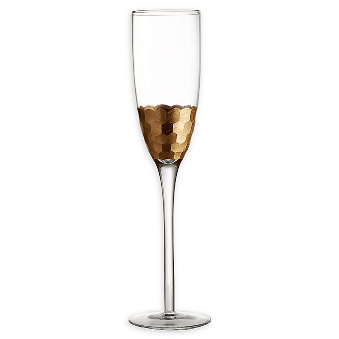Alternate image 1 for Fitz and Floyd® Daphne Toasting Flutes in Gold (Set of 6)