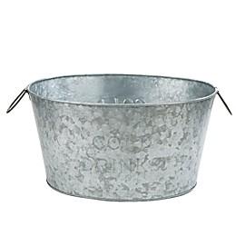 Mind Reader Heavy-Duty Galvanized Iron Ice Bucket in Silver