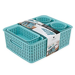 Advantus 10-Piece Weave Bin Organizing Set