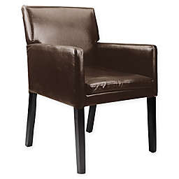 Corliving™ Leather Upholstered Chair in Dark Brown