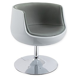 Corliving™ Leather Swivel Modern Chair