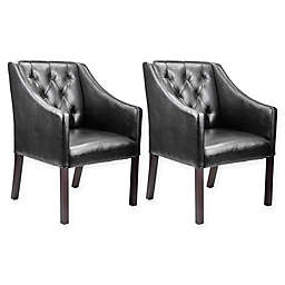 Corliving™ Leather Upholstered Chairs (Set of 2)