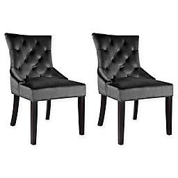 Corliving™ Velvet Upholstered Chairs (Set of 2)