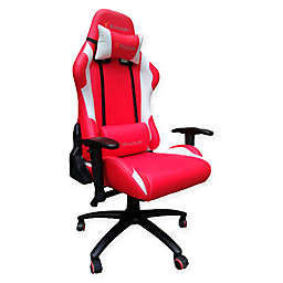 X-rocker® Polyester Swivel 2d Agility Chair in Black/red