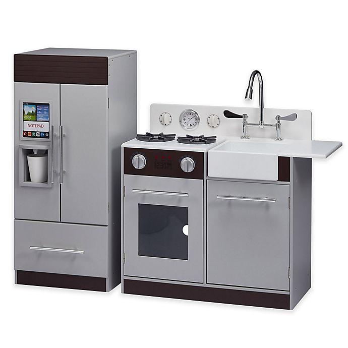 Chelsea Play Kitchen in Grey/Espresso | Bed Bath & Beyond