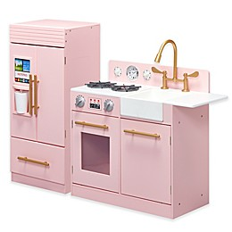Teamson Kids Little Chef Chelsea Modern Play Kitchen in Pink
