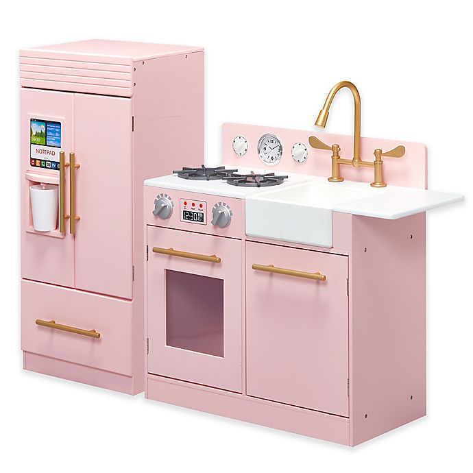 Alternate image 1 for Teamson Kids Little Chef Chelsea Modern Play Kitchen in Pink