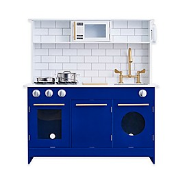 Teamson Kids Berlin Play Kitchen in White/Blue