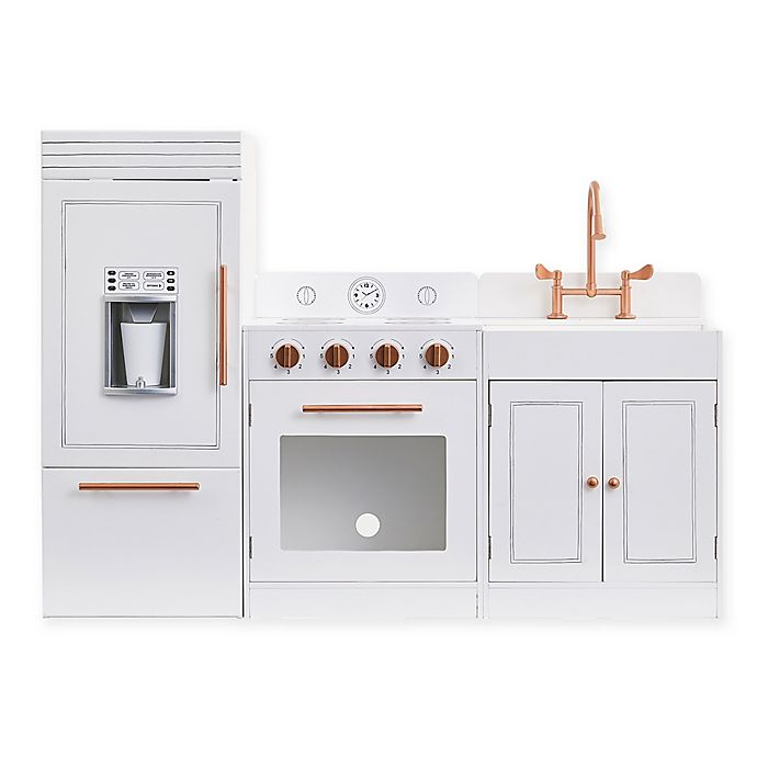 Alternate image 1 for Teamson Kids Little Chef Paris Modern Play Kitchen in White/Rose Gold