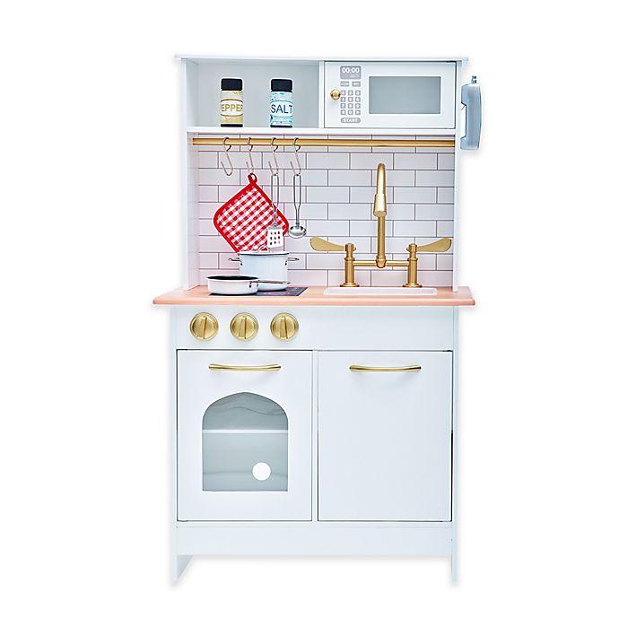 Teamson Kids Boston Play Kitchen in White/Wood | buybuy BABY