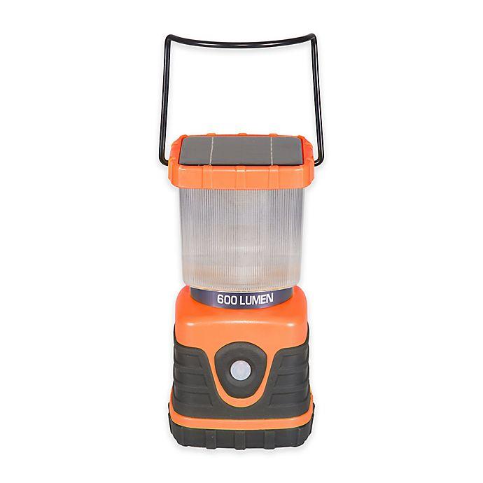 Alternate image 1 for Stansport® 600-Lumen Solar Lantern in Orange/Blue