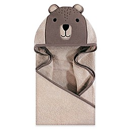 Hudson Baby® Modern Bear Hooded Towel in Brown