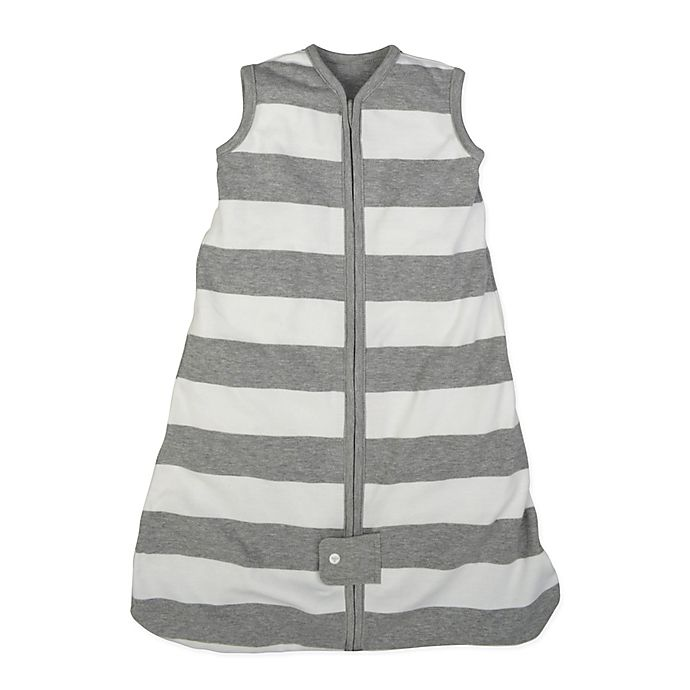 Alternate image 1 for Burt's Bees Baby® Beekeeper™ Rugby Stripe Organic Cotton Wearable Blanket
