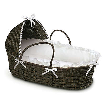 Badger Basket® Maize Hooded Moses Basket in Espresso