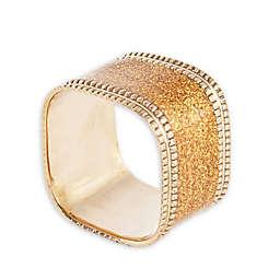 Saro Lifestyle Sparkling Square Napkin Rings (Set of 4)