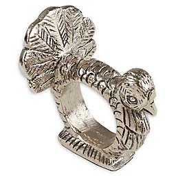Saro Lifestyle Turkey Napkin Rings in Silver (Set of 4)