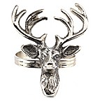 Saro Lifestyle Reindeer Napkin Rings (Set of 4)
