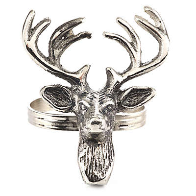 Saro Lifestyle Reindeer Napkin Rings (Set of 4)