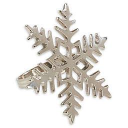 Saro Lifestyle Metal Snowflake Napkin Rings (Set of 4)