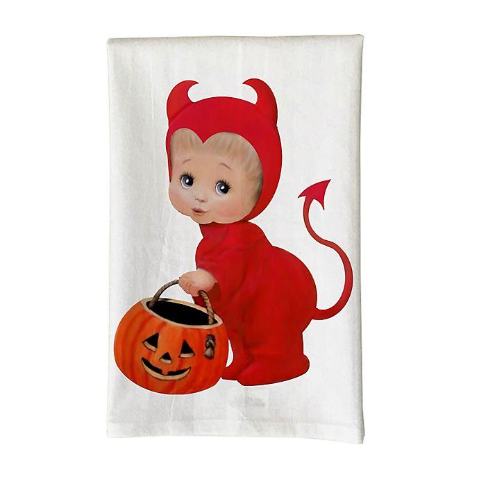 Alternate image 1 for Love You a Latte Shop Little Boy Devil Kitchen Towel in White