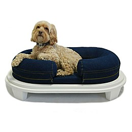 Katherine Elizabeth Chad Ped Bed with Ottoman in Denim