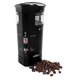 Salton Smart Stainless Steel Coffee Bean Grinder in Black